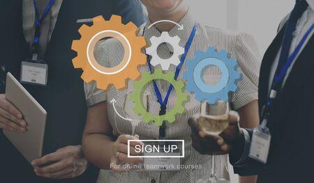 wine register: Business People Team Togetherness Concept