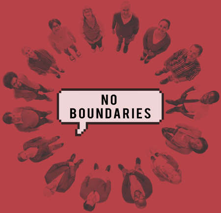 no boundaries: No Boundaries Community Diversity Global Concept