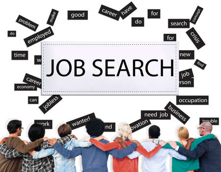 jobless: Job Search Career Jobless Occupation Concept