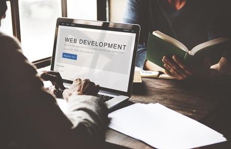 people development: Website Development Internet Homepage Layout Concept