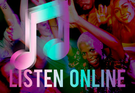 digital music: Digital Music Streaming Online Entertainment Media Concept