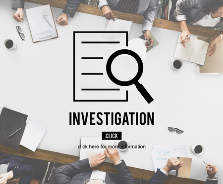 investigation: Investigation Results Analysis Discovery Concept Stock Photo