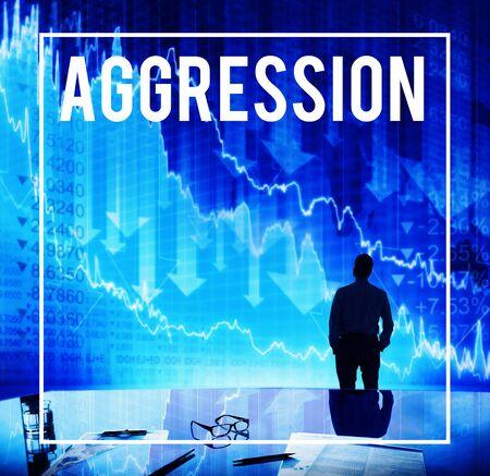 aggressiveness: Aggression Anger Aggressiveness Violence Concept
