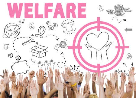 donacion de organos: Las donaciones de la Fundaci�n Dar Ayuda Bienestar Concepto Caridad Foto de archivo