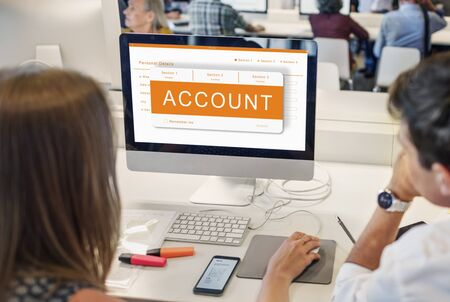 online form: Online Application Registration Form Graphics Concept