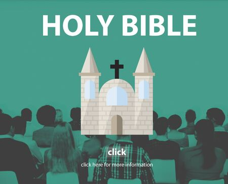 Holy Bible Pray Spiritual Wisdom Woeship Christ Concept Stock Photo