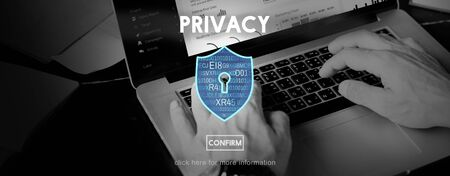 Privacy Policy Private Security Protection Secret Concept Stock Photo