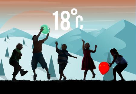 recreational pursuit: Weather Season Weather Forecast Application Concept