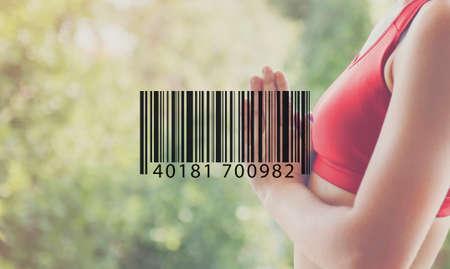 Barcode Mark Sign Market Item Concept Stock Photo