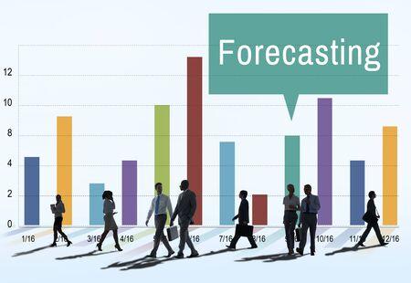 commuting: Forecast Prediction Plan Goal Concept Stock Photo