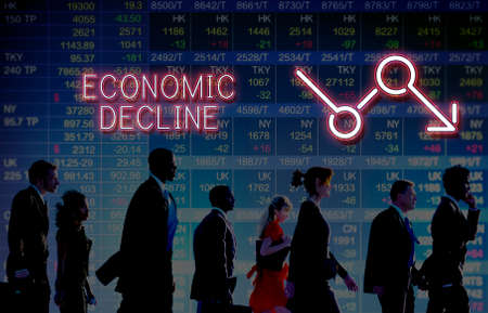 critical: Bankruptcy Critical Recession Inflation Graphic Concept Stock Photo
