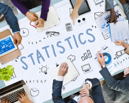 Business meeting with statistics concept Stok Fotoğraf