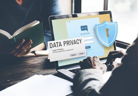 Protection des données Politique de protection de la technologie Concept juridique Banque d'images