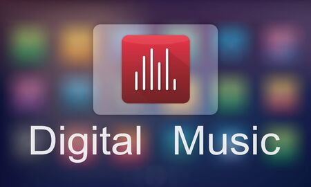 Digital Music Streaming Multimedia Entertainment Online Concept Stock fotó