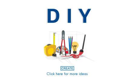 yourself: Do it yourself Handmade Handcraft Original Concept Stock Photo