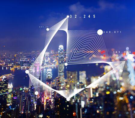 Graph Chart Analytics Business  Statistics Concept 版權商用圖片