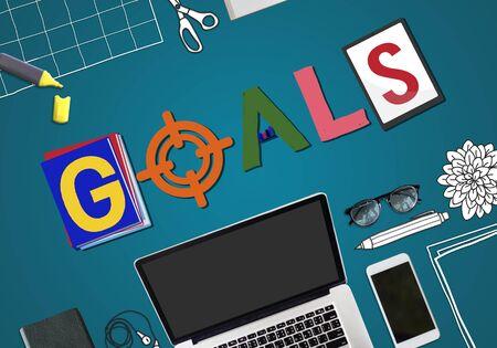 smart goals: Brand Branding Project Goals Word Concept