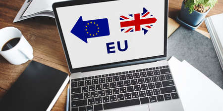 electronic voting: Brexit Britain Leave European Union Quit Referendum Concept Stock Photo