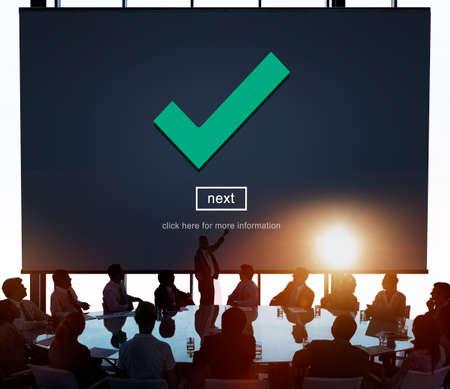 acceptable: Check Icon Correct Element Next Concept