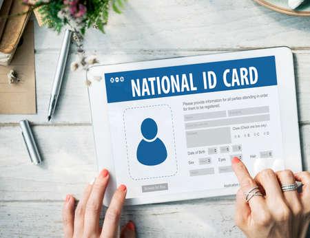 National Identification Card Data Information Citizen Concept