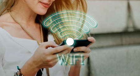 moble: Wireless Internet Wifi Icon Concept