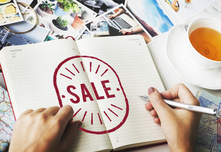 discounting: Sale Commerce Promotion Discounting Graphic Concept