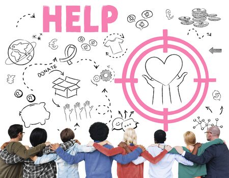 donacion de organos: Donations Foundation Giving Help Welfare Charity Concept Foto de archivo