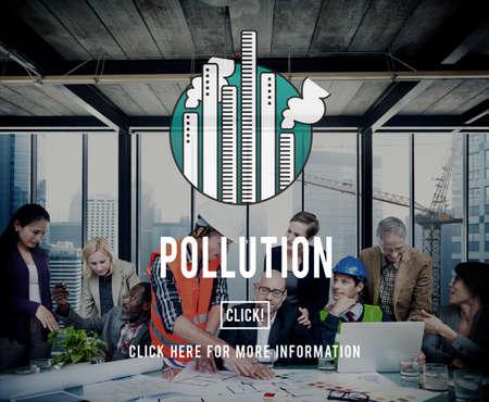 pollute: Pollution Emission Fog Hazard Mist Pollute Smog Concept Stock Photo