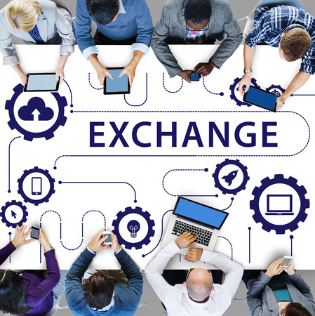 Social Media Sharing Online Exchange Concept