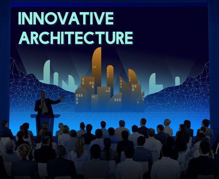 innovative: Innovate Innovative Architecture Skyscraper Structure Concept Stock Photo