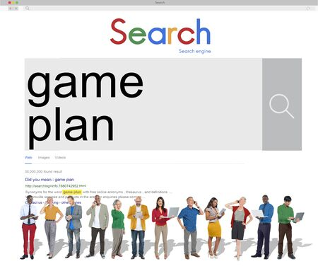 objective: Mission Game Plan Tactics Planning Objective Concept Stock Photo