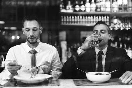 drinks after work: Business Colleagues Dining After Work Concept