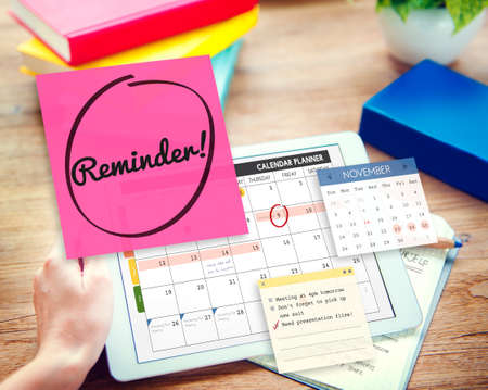 important reminder: Reminder Important Memo Memory Notice Text Concept Stock Photo