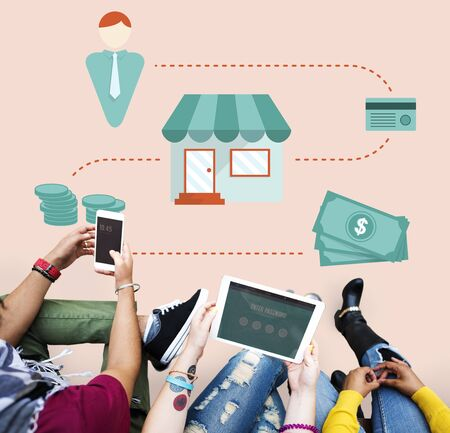 to spend the summer: Money Cash Flow Economic Economics Concept Stock Photo