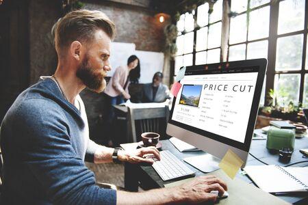 price cut: Price Cut Shopping Online Internet Website Concept