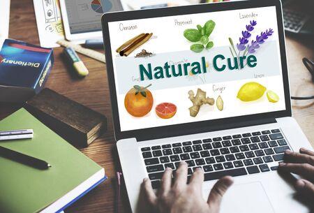 herbalism: Medicinal Plants Natural Cure Herb Herbalism Concept