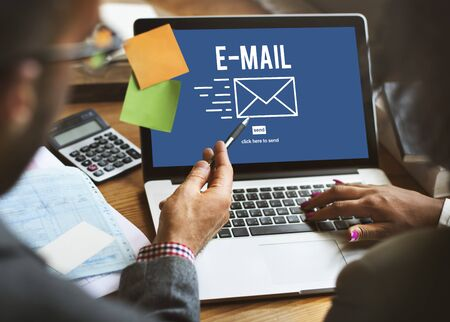 correspondence: E-mail Correspondence Envelope Icon Concept