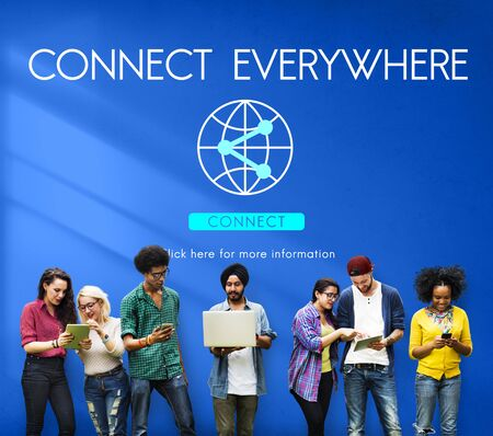 everywhere: Connect Everywhere Globalization Technology Concept