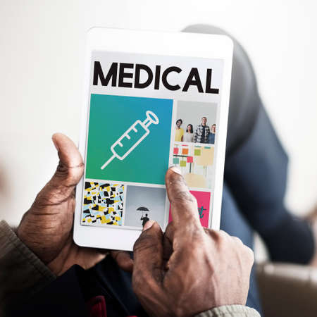 finding a cure: Syringe Injection Medication Healthcare Browsing Concept