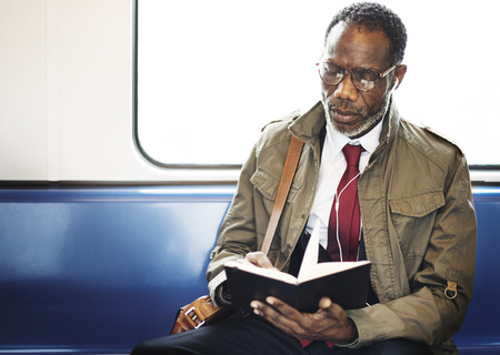 african business: African Descent Business Skytrain Transit Urban Concept