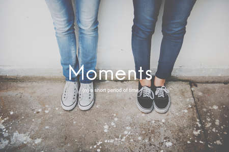 the moments: Moments Period of Time Life Momeries Concept Stock Photo