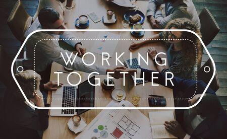 Work Together Alliance Team Association Unity Concept Stock fotó