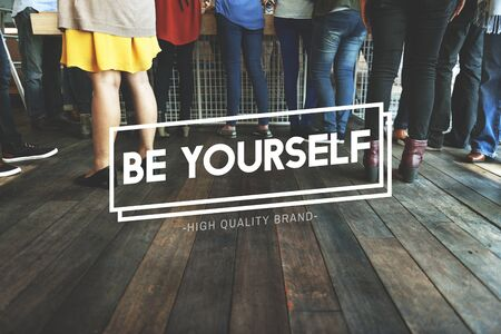 be yourself: Be Yourself Different Unique Individuality Rare Concept