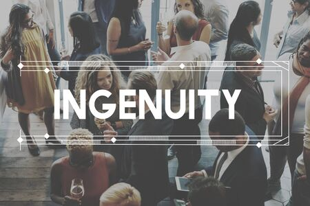 inventiveness: ingenuity Inventiveness Cleverness Insight Creativity Concept Stock Photo