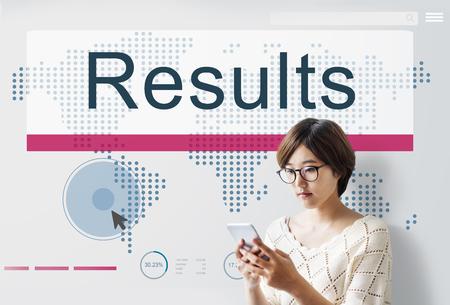 outcome: Results Effciency Evaluate Outcome Progress Concept