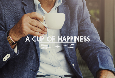 A cup of happiness concept