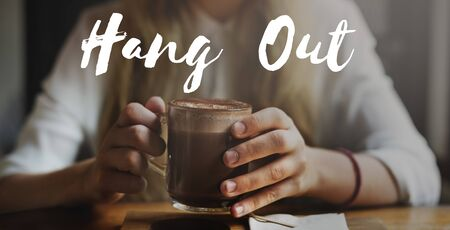 caffeinated: Hang Out Chill Freedom Resting Peace Relax Concept
