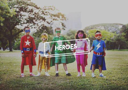 idealized: Heroes Idol Superhero Heroic Protector Heart Concept