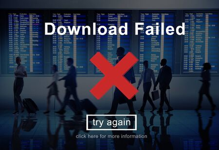 incomplete: Download Failed Data Error Incomplete Load Concept