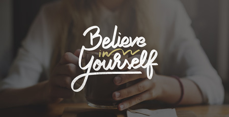 Believe In Yourself Confident Encourage Motivation Concept Stock Photo